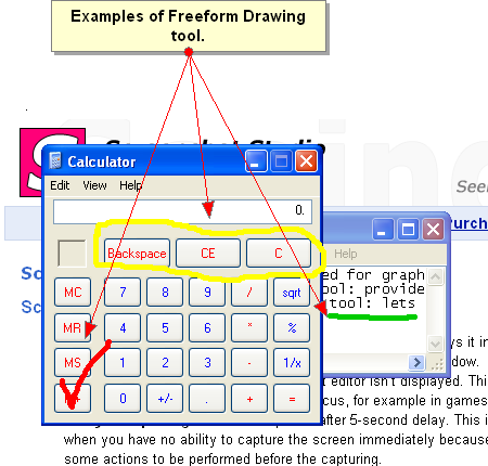 Text and Freeform drawing tool